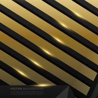graues schwarzes Polygon mit goldenem Lichteffekthintergrund vektor