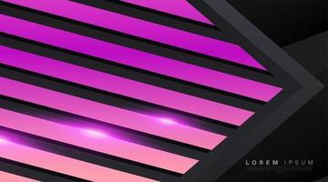 neonpinke Formen mit Schatten und hellem Hintergrund