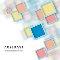 abstrakt överlappande fyrkantig designbakgrund