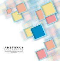 abstrakter überlappender quadratischer Designhintergrund