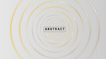 elegant konceptdesign med cirkel linje guld bakgrund vektor