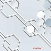 abstrakter Vektorhintergrund einer sechseckigen geometrischen Wand vektor