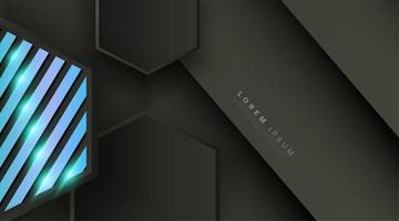 schwarz graues Sechseck formt Hintergrund vektor
