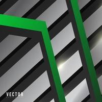 abstrakter geometrischer Vektorhintergrund. Formstreifen und Sechseck mit Farbverlauf