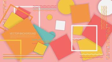 abstrakte Memphis Hintergrund geometrische Elemente
