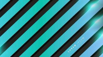 blauer 3d Streifenformhintergrund vektor