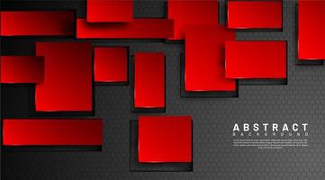 Hintergrund des abstrakten geometrischen roten Quadrats 3d vektor
