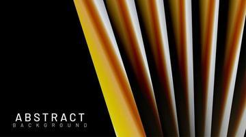 orange gelbe 3d Röhre formt Hintergrund vektor