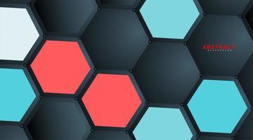 abstrakter Vektor hexagonaler Geometrie Hintergrund