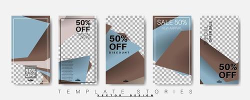 geometrische Form Banner Vorlage, die für Social Media Beiträge bearbeitet werden kann. Vektor-Design-Illustration. Bündel setzen
