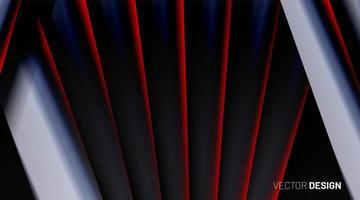 roter und grauer 3d Hintergrund vektor