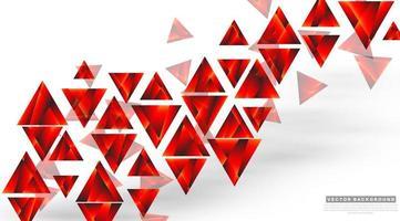 abstrakt rött på vit geometrisk bakgrund vektor