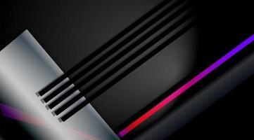 technologisches Hintergrunddesign. Vektorillustration überlappender geometrischer Metallformen vektor