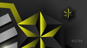 abstrakte geometrische Formen mit gelbem Farbhintergrund vektor