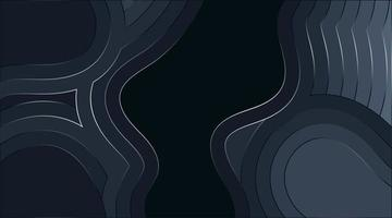flytande vågig abstrakt vektor bakgrundsdesign med glödande linjer. djup konsistens illustration