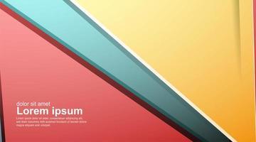 abstrakte bunte Formen setzen Hintergrund vektor