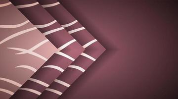 abstrakter Hintergrund mit überlappenden braunen Rechtecken. Vektor-Design-Illustration vektor