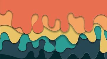 abstraktes Design, das welligen fließenden Hintergrund überlappt. flüssige wellige zeitgenössische Mustervektorillustration. vektor