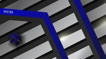 abstrakter geometrischer blauer und silberner Vektorhintergrund vektor