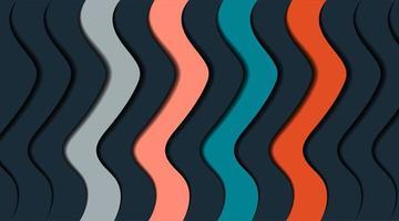 vågig design överlappande med skuggor. vektor abstrakt bakgrund