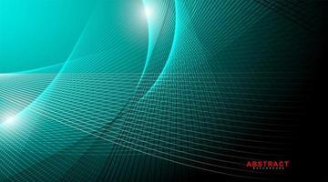 Abstarct geometrischen Hintergrund. leuchtende Linienwelle im Dunkeln. neue Textur für Ihr Design. vektor