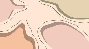abstrakt mall design bakgrundssammansättning av minimala organiska former i trendig samtida collage stil. vektor illustration