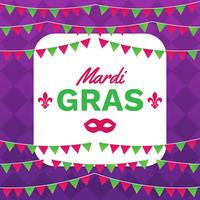 Mardi Gras rammall med utrymme för text