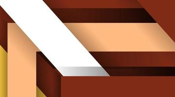 Vektor Material Design Hintergrund. abstrakte kreative Konzeptlayoutvorlage. überlappende geometrische Formen. für Web, Wallpaper oder etc.