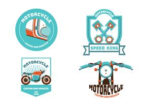 Motorrad-Emblem-Vektor-Pack vektor
