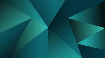 abstrakter Vektorhintergrund. Dreiecksform grüne Farbe