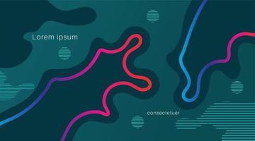 dynamische farbige Formen und Wellen. abstraktes Fahnenbanner mit fließenden fließenden Formen. Vektor Hintergrund