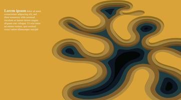 abstrakter Vektorhintergrund. gestapelte flüssige Formen der Entwurfsillustration 3d vektor