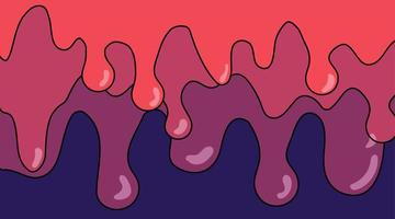 Überlappungsdesign für schmelzende Flüssigkeit. abstrakter Vektorhintergrund
