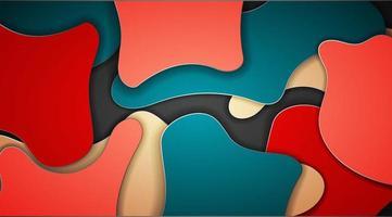 abstrakter Vektorhintergrundentwurf mit Wellentexturkonzept. überlappende Flüssigkeitsabbildung vektor