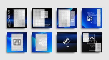 modernes Werbequadrat-Webbanner für die Vektorentwurfillustration der sozialen Medien