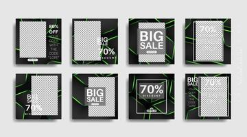 moderne quadratisch bearbeitete Werbebanner für Social-Media-Beiträge. Vektor-Design-Illustration