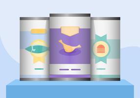 Flache Illustration des Lieferungs-Lebensmittels