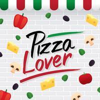 Pizza Lover Typografi Vector