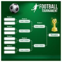 Fotbollsturnering vektor