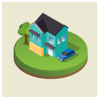 Isometrisches Hausdesign vektor