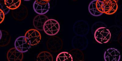 ljusrosa, gul vektorbakgrund med ockulta symboler. vektor