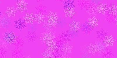 ljusrosa, blå vektor naturlig layout med blommor.