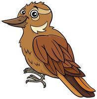 tecknad xenops fågel komisk djur karaktär vektor