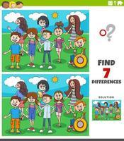 skillnader pedagogiskt spel med barn och tonåringar vektor