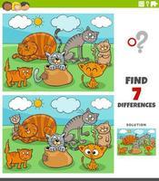 skillnader pedagogiskt spel med kattgrupp vektor