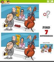 skillnader pedagogiskt spel med jazzbandmusiker vektor