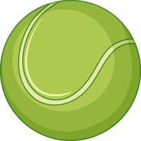 Tennisball auf weißem Hintergrund vektor