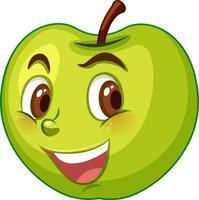 äppletecknad karaktär med ansiktsuttryck
