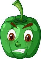 paprika tecknad karaktär med ansiktsuttryck vektor