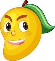 Mango-Zeichentrickfigur mit Gesichtsausdruck vektor